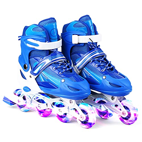 Adjustable Illu nating Inline Skates with Light Up Wheels for Kids and Adults for Girls and Boys Men and Women -MAYIS
