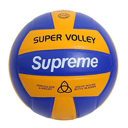 Supreme Super Volley Leather Pasted Volleyball Size:-04 (Pack of 1)