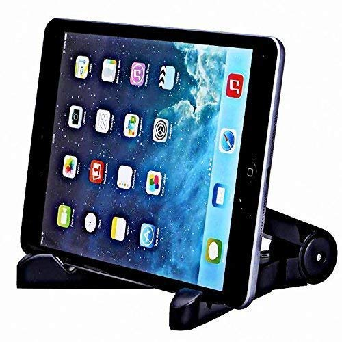 LXCN® Multi-Angle Portable & Universal Stand 7-10 inch Black Cradle for Tablets Stand for E-Learning, Adjustable Tablet Mount (for ipad, Android Tablets-Samsung Galaxy tabs, Kindle Paperwhite)