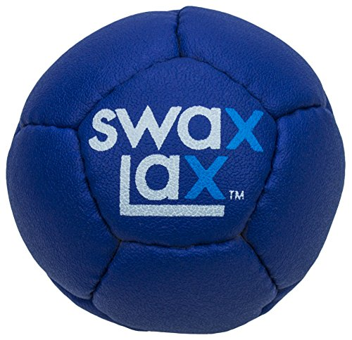 SWAX LAX Lacrosse Training Ball (Blue) Same Size and Weight as Regulation Lacrosse Ball but Soft - No Rebounds, No Bounce Practice Ball