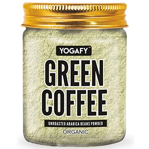 YOGAFY- Organic Green Coffee Beans Powder - 300g   For Immunity Building and Weight Loss Management   Organic 100% Unroasted Arabica Beans  