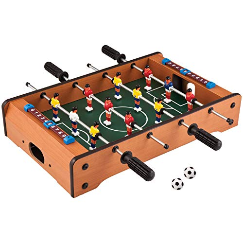 Cable World® Mid-Sized Foosball Mini Football Table Soccer Game 20 Inches