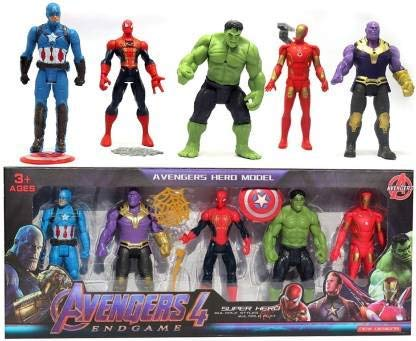 RKZ Avenger Super Hero Action Figure Toy Set (Set of 5 Superheroes)-Genuine & Original Products Sold by  RKZ .