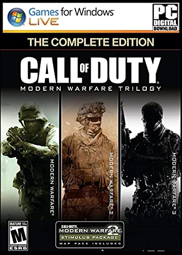 EPC Games- C-O-D MW1, MW2, MW3 Complete Collection Full PC Game (Digital Download) - [NO DVD/CD No Multiplayer/No Redeem Code] PC