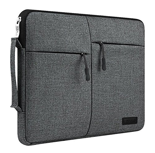 Jlyifan Canvas Busniess Zippered Carrying Sleeve bag Breifcase Cover for The new MacBook 12-in / iPad Pro 12.9 / Apple MacBook Pro 11.6'' 13'' 13.3'' Laptop / Microsoft Surface Pro 4 3 (Black)