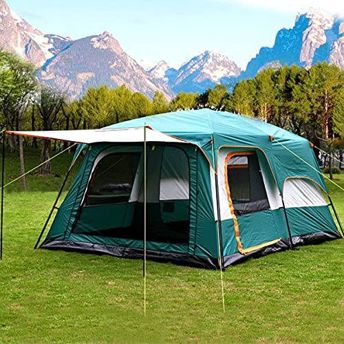 Nasmodo Family Tent House Dome Tent for Camping 3-12 Person Waterproof Tent Picnic,Hiking,Trekking Outdoor Tent House for Travel (S-330 * 210 * 185cm, Green)