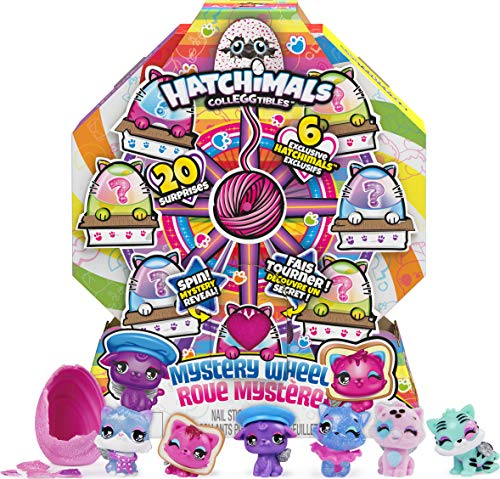 Hatchimals CollEGGtibles, Cat Crazy Mystery Wheel with 20 Surprises to UNbox, for Kids Aged 5 and up